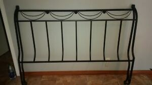 Queen Head Board (Wrought Iron Type) w/ Metal Bed Frame & Box