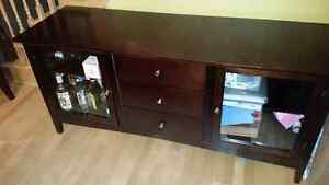 Buffet/ hutch with two glass doors  28h x 62w x 20d