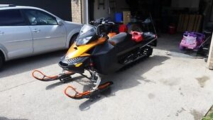 2012 Summit XP 860 Big Bore Mountain Sled and Sled Deck