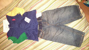 Authentic new with tags ralph lauren polo rugby shirt and jeans