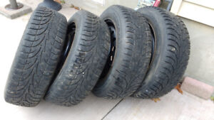 4 Sailun Ice Blazer Winter tires with rims