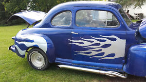 1947 ford coupe hotrod old school 302