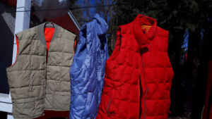 Assorted vests and light jackets
