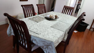 Dinning table with six chairs and Hucth $600