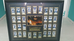 Maple leafs card set in frame