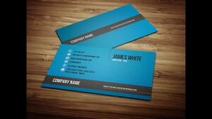 Business cards double-sided 1000pcs/$25