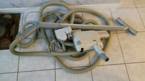Central vacuum attachments with 2 power heads