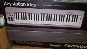 Keystation 61es (61 key-semi-weighted USB MIDI controller)