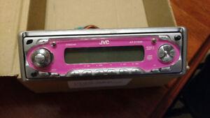 JVC Car CD Player - Hot Pink