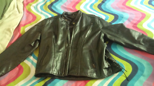 Men's leather jacket and chaps