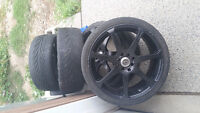 "18"" core racing rims and tires"