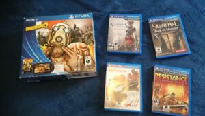 In Box Lovely Ps Vita and Games