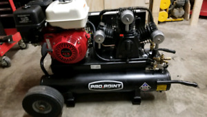Honda 9hp 9gallon twin tank wheelbarrow Propoint compressor