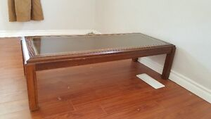 solid wood coffee table $90
