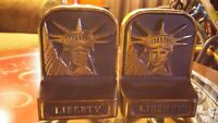 Antique Cast Iron Liberty Book Ends
