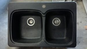 Blanco double sink and faucet