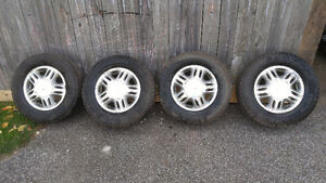 215/70R15 Winter tires with rims $400 OBO.