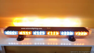 Tow truck snow plow vehicle emergency warning strobe light bars