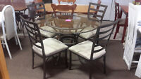 Glass Top Dining Set - Used
