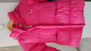 Girl  winter jacket - pink color- 110cm