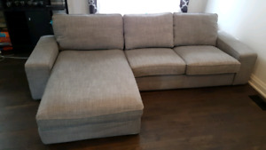Grey Ikea L-Shaped Couch