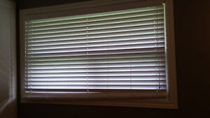White Faux Wood Window Blinds