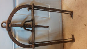 Antique hay tongs