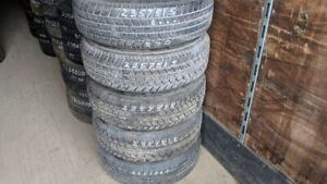 Set of 5 Silverguard ST (free rims) 235/75R15 tires (100% tread