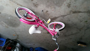 Young girl's bicycle