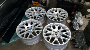 BMW STYLE 197 BBS 18 INCH RIMS. 5X120. STAGGERED.