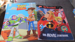 Toy Story and The Incredibles movie storybooks