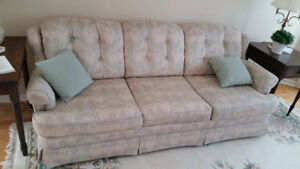 Sklar Peppler couch and chair + 2 accent pillows