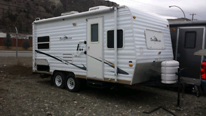 Trade 20ft trailer for bigger one with bunks