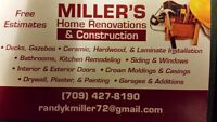 Millers Home Renovations and Construction
