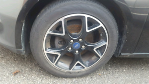 Ford focus black rims and tires