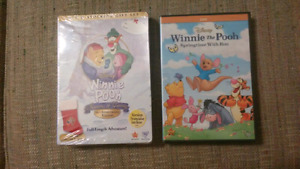 Winnie the Pooh DVDs (New and sealed)