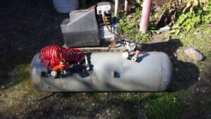 air-compressor and tank