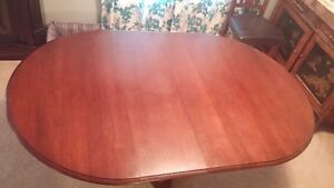Solid Wood Dining Room Table Set with Hutch