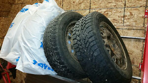 Snow Tires with Steel Rims