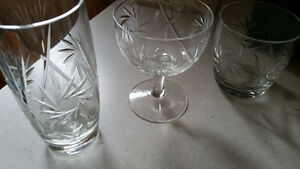 PINWHEEL CRYSTAL GLASSES Cambridge Kitchener Area image 1