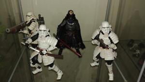 Star Wars movies realization samurai figures