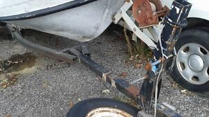 20 ft aluminum inboard boat and trailer as is Kingston Kingston Area image 4