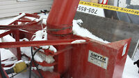 6 ft 3pt hitch pto drive tractor snow blower