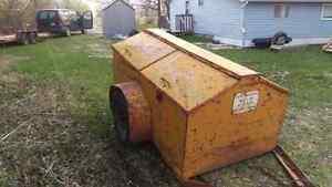 4X7 homemade enclosed trailer