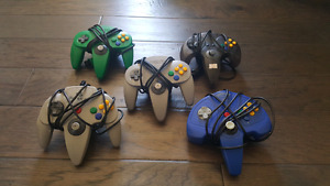 Nintendo 64 with 8 games 5 controllers