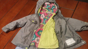 Carters 2 in 1  fall/spring jacket girls size 3