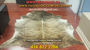New Cowhide Rug Cow skin Cow Hide Leather Hair on Cowhide