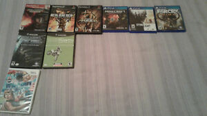 Assorted videos games