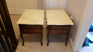 Antique Marble side tables