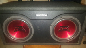 10 inch dual subwoofer, Audio Mix (Thunder)